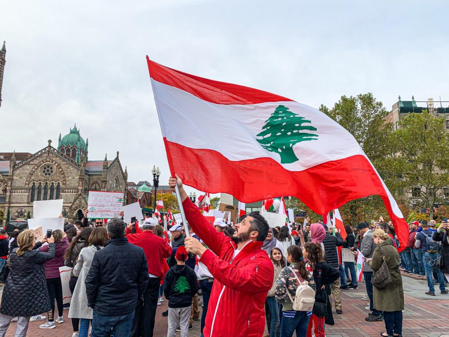 Bostonians march in solidarity with protestors in Lebanon