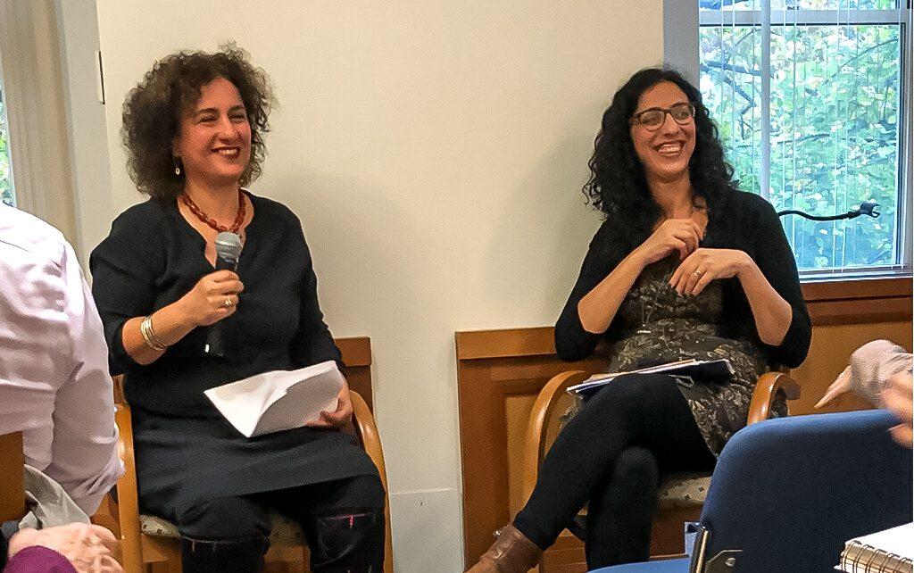 Shoshana Madmoni-Gerber (right) moderates event with Ayelet Tsabari