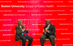 William Darity and Moderator Harold Cox at the event
