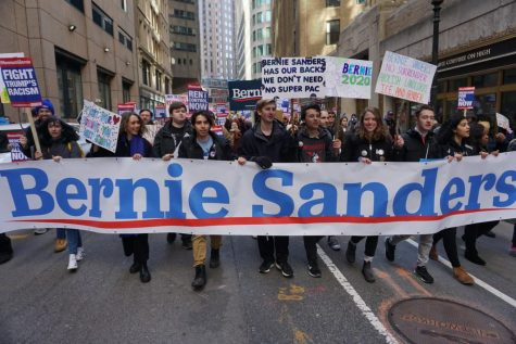 Sanders supporters rally, march in Boston ahead of Mass. primary