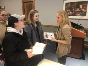 Kristine Lilly visits Suffolk to share soccer experiences