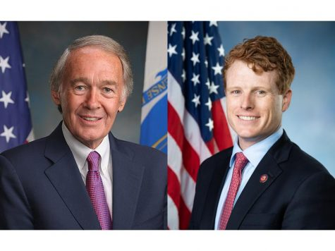 (From left) Incumbent Massachusetts Sen. Ed Markey and Massachusetts State Rep. Joseph Kennedy III.