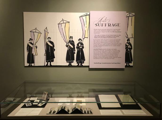 Boston Athenaeum puts on a display for 100th anniversary of the ratification of the 19th amendment
