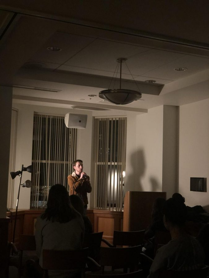 Venture blends poetry, prose and song to charm audience at open mic night