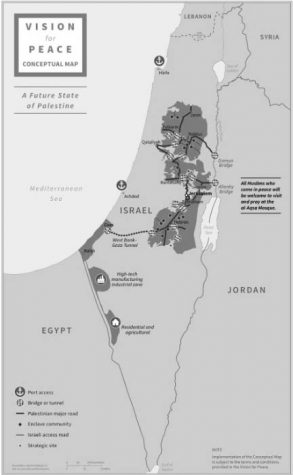 A possible map of the future state of Palestine