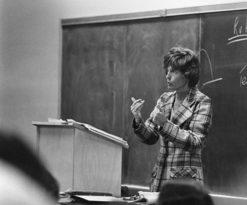 Catherine Judge became the school's first full-time professor in 1972, and became the first woman to receive tenure at the university two years later.