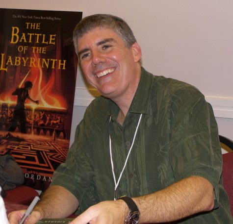 "Rick Riordan, author of the ""Percy Jackson & the Olympians"" book series."