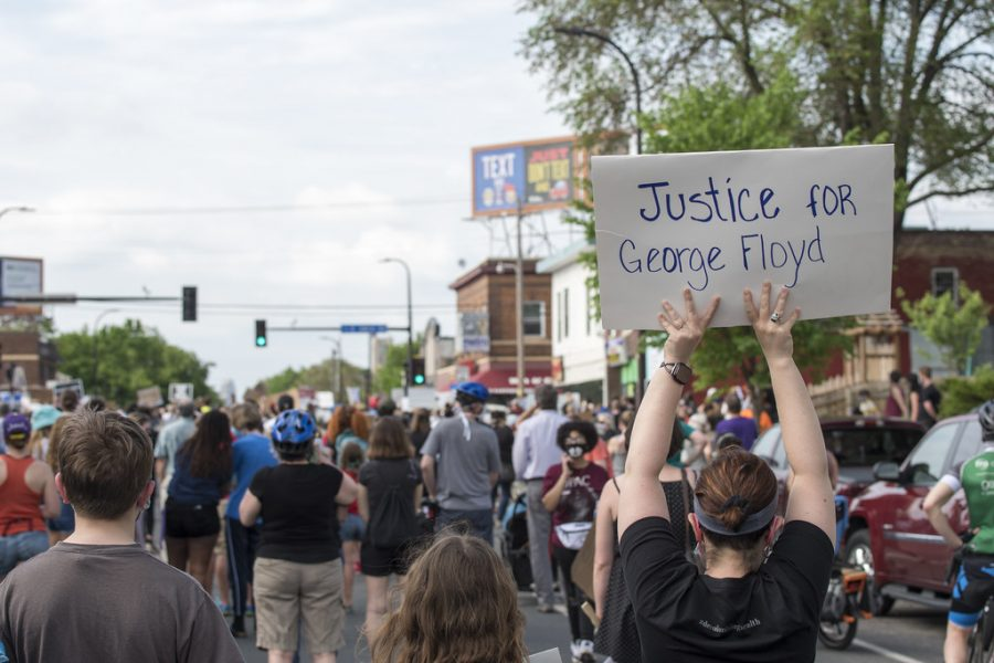 Protestors gathered in south Minneapolis to call for justice for George Floyd.