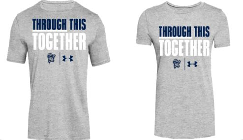 Suffolk University Athletics is selling these T-shirts through the end of this week to raise money for the Suffolk CARES Pantry.