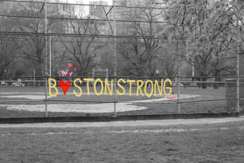 A sports field left vacant during quarantine, but the Boston spirit still continued on.