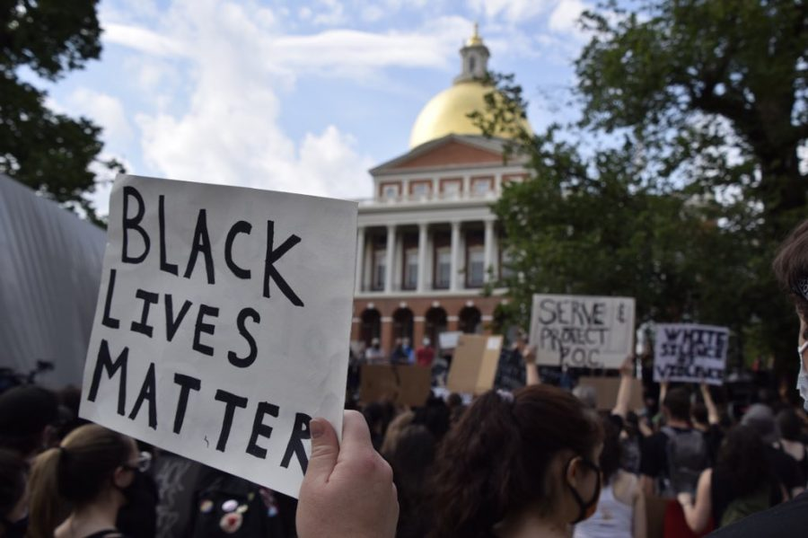A peaceful protest was held in Boston Common Wednesday to protest police brutality and honor George Floyd, an African American man who was killed by Minneapolis police May 25.