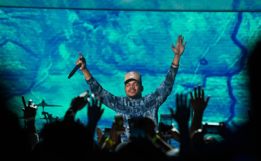 Chance the Rapper performing at an event pre-COVID.