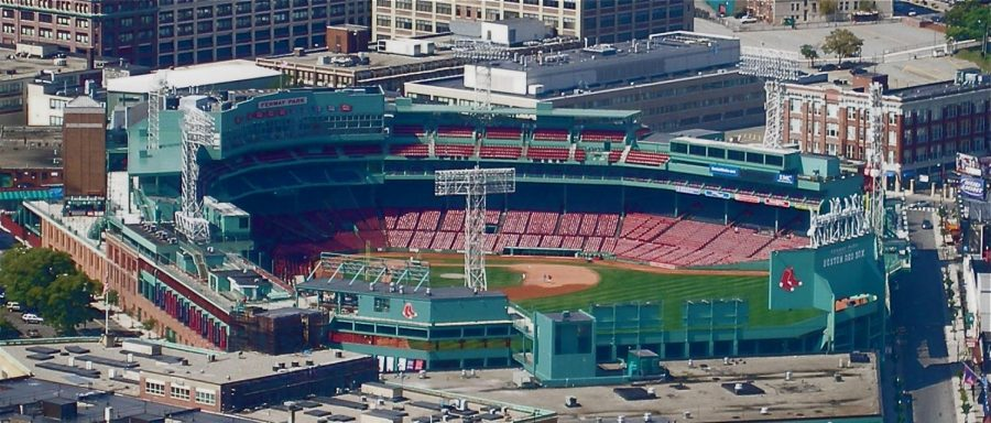 An empty Fenway Park, as no fans were allowed at Major League Baseball games this season (Courtesy of Wikimedia Commons)
