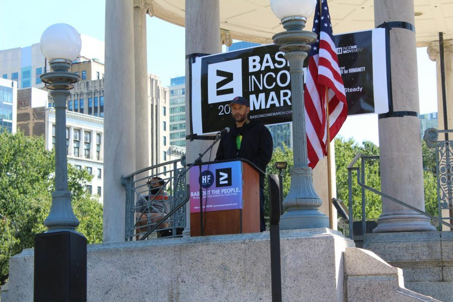 Basic Income Rally on the Boston Common