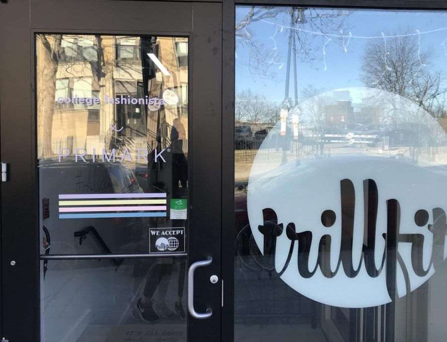 Outside TRILLFIT's boutique fitness studio in Mission Hill.