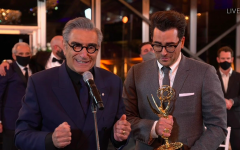 Father-son duo Eugene Levy, left, and Dan Levy of