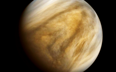 A close-up shot of planet Venus.