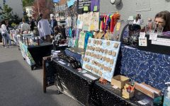 Vendor stalls at the Big Gay Market in Dorchester on Oct. 11.