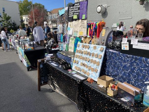 Vendor stalls at the Big Gay Market in Dorchester on Oct. 11.