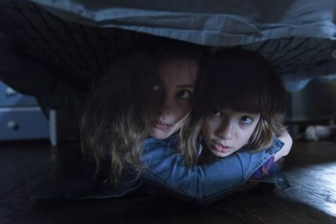 "Gillian Jacobs (left) stars as ""Sarah"" and Azhy Robertson (right) stars as ""Oliver"" in the horror movie ""Come Play"" which will be released on Oct. 30 just in time for Halloween."