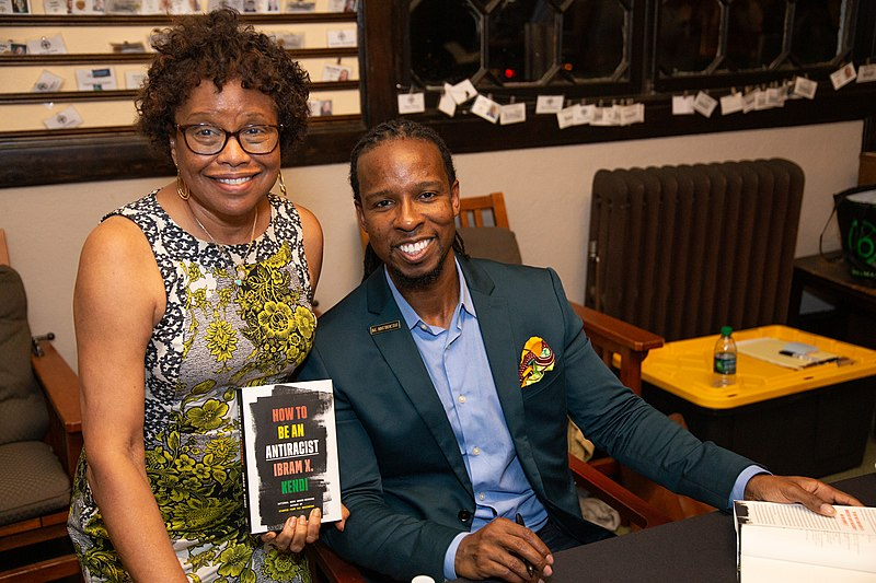 "Ibram X-Kendi presenting his book ""How to Be an Antiracist"" in New Jersey. On Oct. 14, the Museum of Science, Boston, hosted Kendi to discuss this book to a virtual audience."
