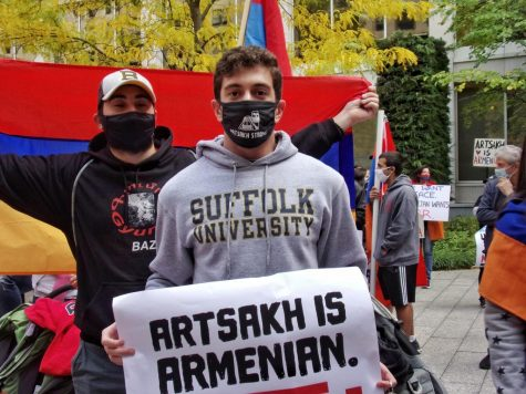 Suffolk student participates in protests for Armenia
