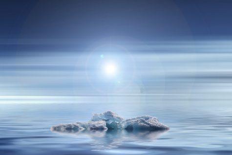Icebergs melt due to warm temperatures