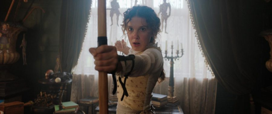 "Millie Bobby Brown as Enola Holme's in Netflix's new movie  ""Enola Holmes."