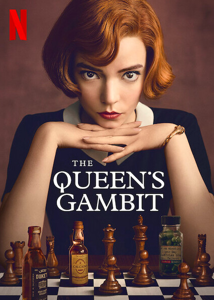 Poster for The Queens Gambit starring Anya Taylor-Joy.