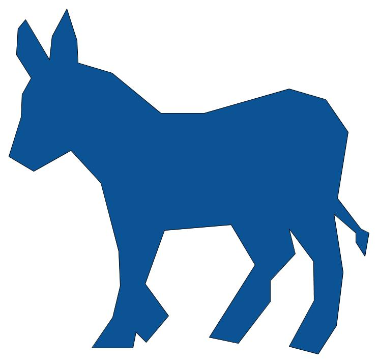 The donkey has been a symbol of the democratic party for over a century. Via Wikimedia Commons