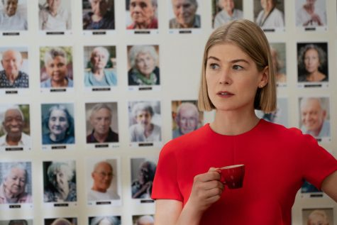 "On Feb. 28, Rosamund Pike won a Golden Globe award for her performance as Marla Grayson in ""I Care a Lot."""