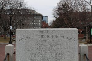 The Christopher Columbus Statue at the Boston Waterfront.
