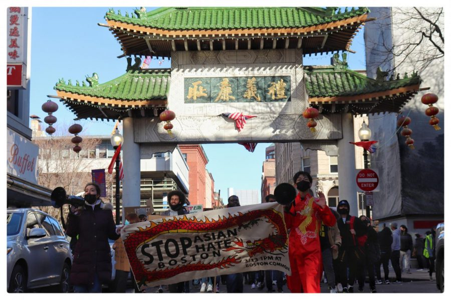 Demonstrators+march+during+a+March+14+Stop+Asian+Hate+Rally+in+Boston.+