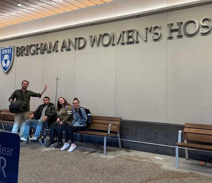 (From left) Will Umphrey, Ken Roldan, Allison Sherman and Briana Reddish at Brigham and Women's Hospital