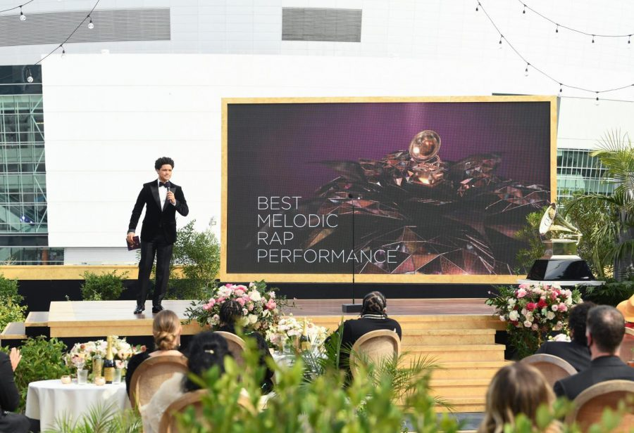 Trevor Noah hosted the 63rd Grammy Awards in an outdoor ceremony.