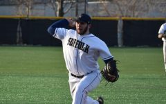 Suffolk's EJ Birch secured the final out of the game in the Ram's second victory over Endicott on Wednesday