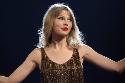 "Taylor Swift performing at the 2012 Speak Now Tour in Sydney. She released the re-recording of her second album ""Fearless"" on April 9."