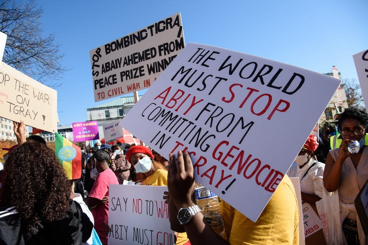 Ethiopians continue to protest against the war in the Tigray region.