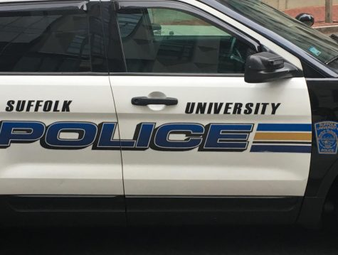 A SUPD car on campus