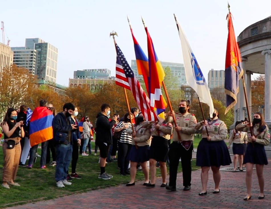 1915 Genocide Commemoration in Boston after President Joe Biden declared the U.S. would recognize it