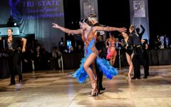 Valerie Dubinsky dances with her partner at the 2019 Tri-State Dancesport Championships in Stamford, CT.