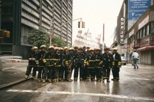 My dad and his coworkers at the site of the Twin Towers