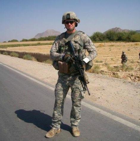 Erik Edstrom during his 2008 deployment in Kandahar.