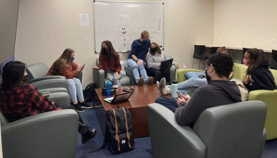 Students in the Commuter Student Lounge