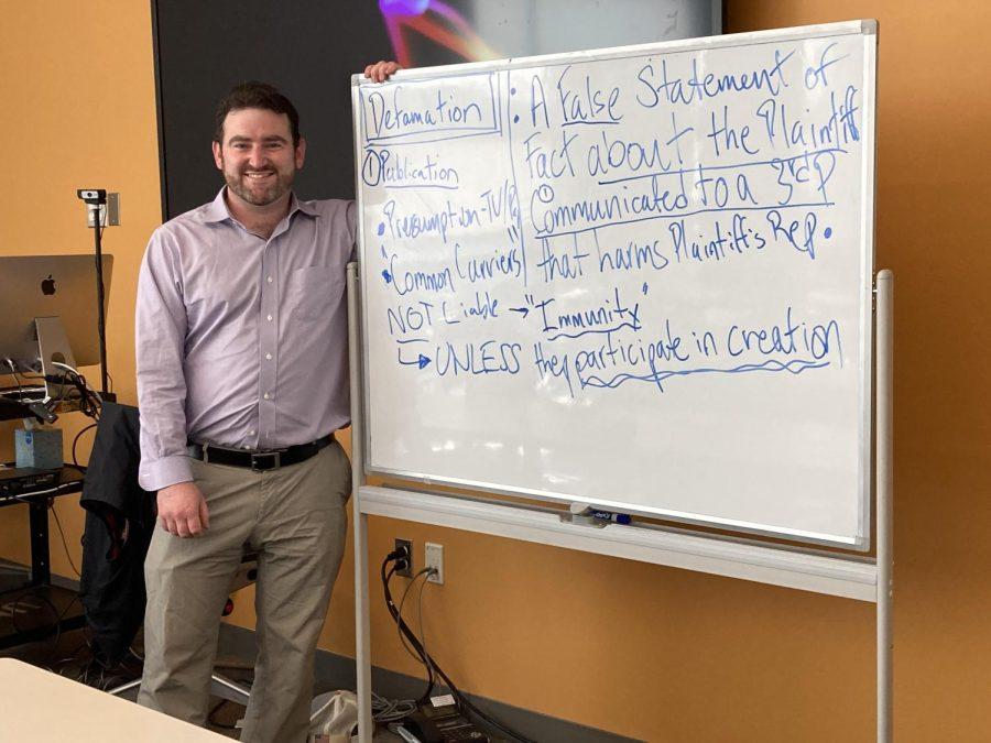 Suffolk student turned teacher; Professor Scott Young talks Media Law