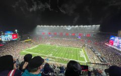The view from the upper deck of Gillette Stadium for the Patriots Sunday night loss to the Buccaneers